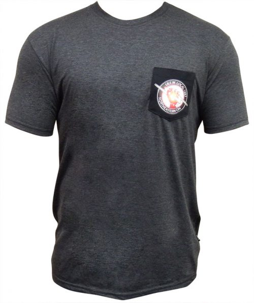 IBEW-T-Shirt-Grey-Black-Logo-Patch-Front