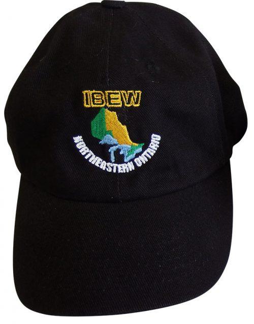 IBEW-Black-Ball-Cap-Front