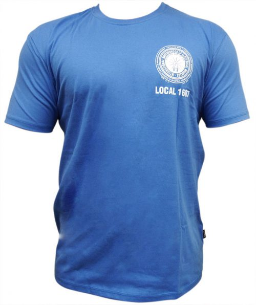 IBEW-T-Shirt-Blue-Crest-Logo-Front
